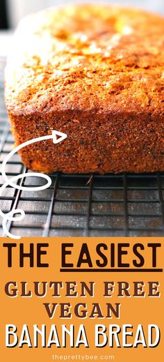 This recipe is so super simple - no crazy ingredients! You will love this tender, moist, flavorful, gluten free and vegan banana bread. Gluten Free Recipes For Breakfast, Free Breakfast, Dairy Free Recipes, Vegan Gluten Free, Vegan Recipes, Gluten Free Banana Bread, Vegan Banana Bread, Egg Free Desserts, Dessert Recipes