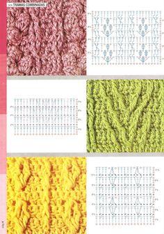 """"""" MOSSITA BELLA PATRONES Y GRÁFICOS CROCHET """": Bufandas y Mitones a crochet en punto relieve, trenzas y torsadas *.*"""