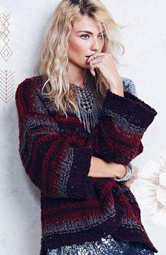 Boho winter style.