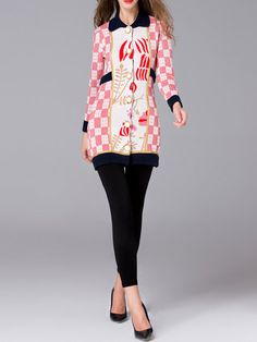 Pink Cotton Long Sleeve Knitted Cardigan