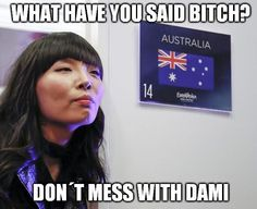 Dami Im is a tough girl #Eurovision #Europe #ComeTogether #ESC #ESC2016 #Stockholm #Pretty #Sexy #Smile #Australia #sbs #Meme #damiim