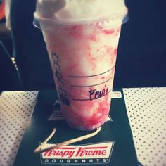 Yummy strawberry frappe , makes easier with homemade recipe find it on youtube...