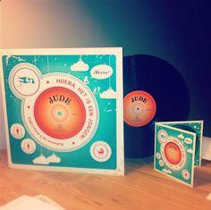 Geboortekaartje en LP Jude made by Oehoe Design