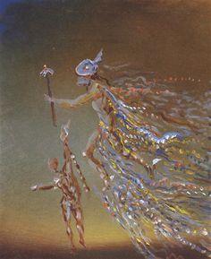 Hermes Salvador Dali Date: 1981 Style: Naïve Art (Primitivism), Surrealism Genre: mythological painting
