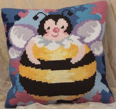 Cross Stitch Cushion Front Kit - Honey Ball