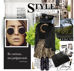 """BE CURIOUS, NOT JUDGMENTAL."" by majksister ❤ liked on Polyvore"