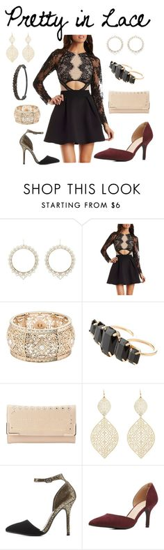 """""""Pretty in Lace"""" by charlotterusse ❤ liked on Polyvore featuring Charlotte Russe, stylesteal, valentinesday and CharlotteLook"""