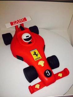 Cars cake on pinterest car cakes racing and disney cars for F1 car cake template