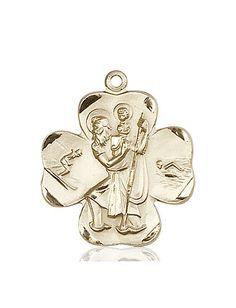 St. Christopher Medal (14kt Gold) by Bliss | Catholic Shopping .com
