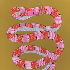Hey, I found this really awesome Etsy listing at https://www.etsy.com/listing/528184461/pretty-fierce-original-surreal-snake-art