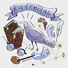 when you are smart and you like art #ravenclaw #ilustração #ilustracion #hpfanart #corvinal