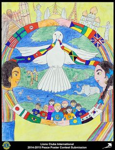 2014-15 Lions Clubs International Peace Poster Competition submission from Kathmandu Sharing Hearts Lions Club in Nepal