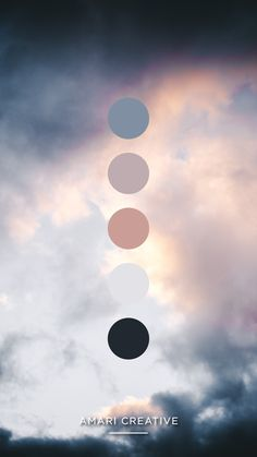 Sunset Clouds | Color Palette by Amari Creative Brand Studio #brandcolors #branding #colorpalette #sunset #clouds