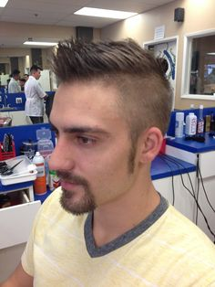 38 Faux Hawk Hairstyle Ideas for Handsome Men Undercut Fade Hairstyle, Undercut Styles, Undercut Women, Fade Haircut, Hairstyle Short, Hairstyle Ideas, Faux Hawk Hairstyles, Boy Hairstyles, Trendy Hairstyles