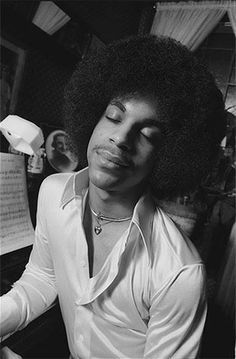 Young Prince grooving to the music in his mind.