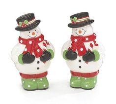 christmas salt and pepper shaker sets | Christmas Snowman Salt and Pepper Shaker Set Adorable Holiday ...