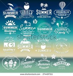 stock-vector-summer-typography-designs-summer-logotypes-set-vintage-design-elements-logos-labels-icons-274497311.jpg (450×470)