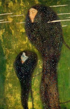 by Gustav Klimt (1862~1918) | Ундины Серебряные Рыбы