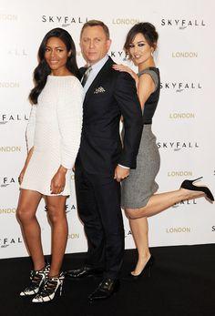 Daniel Craig with his 'Skyfall' Bond girls.