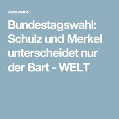 Bundestagswahl: Schulz und Merkel unterscheidet nur der Bart - WELT