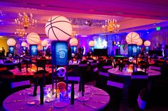 Airbrush tattoos, a green screen for cool pictures with guests, Dippin' Dotsice cream, all encompassed by sports-themed decor. It's no surprise that Adam and his guests were wowed by the Bar Mitzvah celebration held at the Dunwoody Country Club. Each of Adam's guests received customized basketball jerseys with a specially designed logo for Adam on …