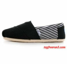 #topfreerun3 comSave Up To 58%,$17.95 Toms Mens Mazarine Split Joint Stripe Charming Black