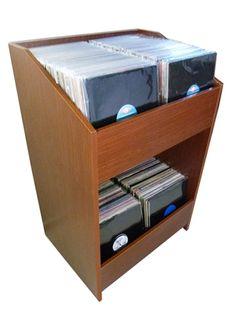 lpbin lp storage cabinet in classic oak
