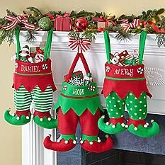 Jingle Bell Elf Pants Stocking