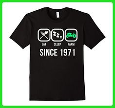 Mens Eat Sleep Farm Since 1971 T-Shirt 46th Birthday Gift Shirt Medium Black - Birthday shirts (*Amazon Partner-Link)