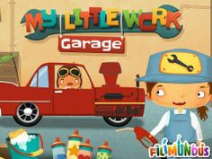My Little Work – Garage - interactive play app with vehicles/garage/racing theme. Original Appysmarts score: 86/100