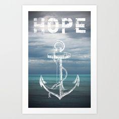 Hope Anchor Art Print by Ryan Johnson Anchor Art, Hope Anchor, Ryan Johnson, Rhode Island, New England, Ocean, Art Prints, Delta Gamma, Hebrews 6