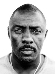 Idris Elba photographed by Peter Yang. Photography, portrait, black and white Idris Elba Luther, Black Is Beautiful, Beautiful People, Dead Gorgeous, Beautiful Celebrities, Idriss Elba, Poses References, Celebrity Portraits, Black And White Portraits
