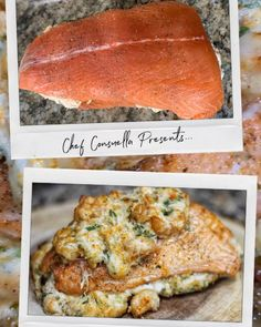 Easy meals weeknight meals chef bae meals to impress date night meals # Crab Stuffed Salmon, Salmon And Shrimp, Easy Cooking, Cooking Recipes, Healthy Recipes, Night Dinner Recipes, Date Night Meals, Salmon Recipe Videos, Crab Recipes