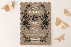 """""""Ampersand Floral"""" - Rustic Wedding Invitations in Mint by Alethea and Ruth."""
