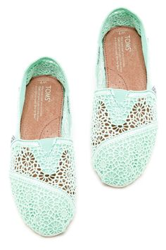 Mint Crochet TOMS, love these so much!!!