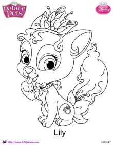 Lily Coloring Page | Disney's Princess Palace Pets Free Coloring Pages and Printables | SKGaleana