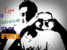 u choose love or friend...