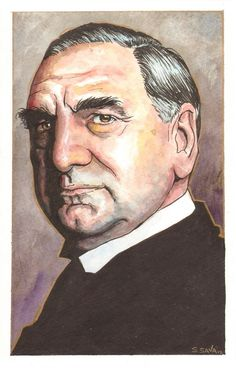 Downton Abbey's Carson  Watercolor Painting by ScottChristianSava, $95.00
