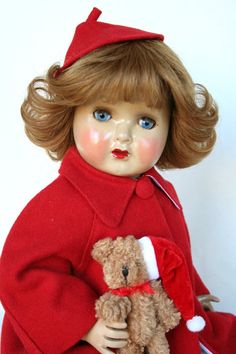 Santa Baby, Doll Crafts, Antique Toys, Vintage Dolls, Doll Toys, Little Girls, Antiques, Holiday Decor, Crochet