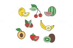 Fruits set by MarioMovement on Creative Market