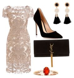 """""""Night Out"""" by gaby-montelon ❤ liked on Polyvore featuring Gianvito Rossi and Yves Saint Laurent"""
