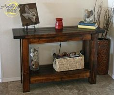 Pottery Barn Inspired Console Table  - First Build!| Do It Yourself Home Projects from Ana White