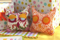 """Finished owl craft. We made these for a """"owl couple"""" baby shower and these little owls are perfect as a party favor as as a gift for the little one that is about to arrive. Read all the details on our blog at: blog.thecelebrationshoppe.com/2009/08/24 repin it"""