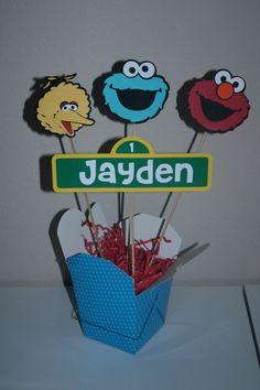 Sesame Street Birthday Centerpiece Elmo Cookie by CreativeQueenBee, $12.95