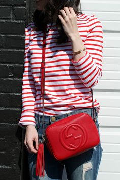 Gucci Red Disco Bag