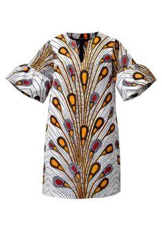 Robes Couleur d'Afrique - design queue de paon ! Vraiment jolie le pagne !!!