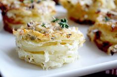 Parmesan Scalloped Potato Stacks - in sock monkey slippers