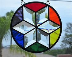 Image result for stained glass sidelight geometric
