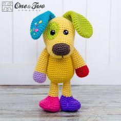 Scrappy el Amigurumi perrito feliz - arco iris patrón ganchillo PDF - Descargar Instant - muñeca ganchillo Cuddy cosas peluche                                                                                                                                                                                 Más