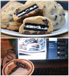 Not everything is a #PINFAIL when it comes to recipes! I did it! =)   Oreo Stuffed Chocolate Chip Cookie #PINWIN